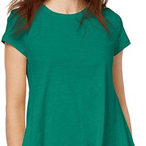 NWT Style & Co Scallop-Neck Cotton Top Size S